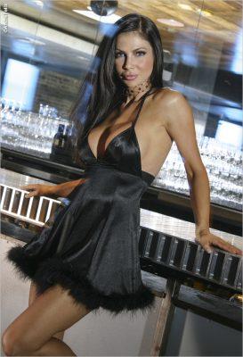 Yvette Nelson Mini Black Dress