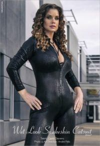 Catsuit on location with Carrie Stevens