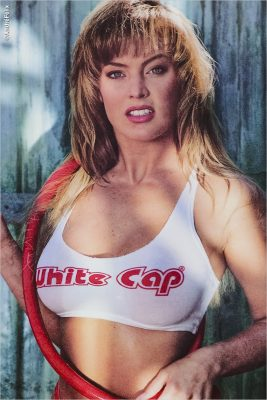 Kelli Brook White Cap Poster